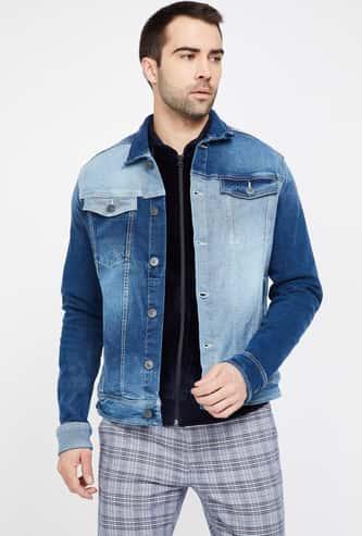 FORCA Stonewashed Full Sleeves Regular Fit Denim Shirt