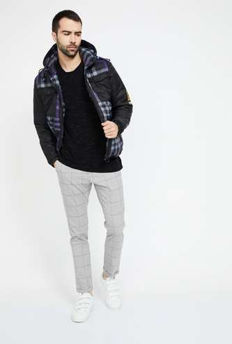 FORCA Checked Hooded Jacket