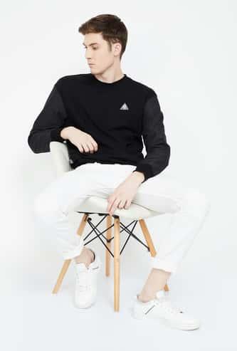 FORCA Solid Regular Fit Full Sleeves Sweatshirt