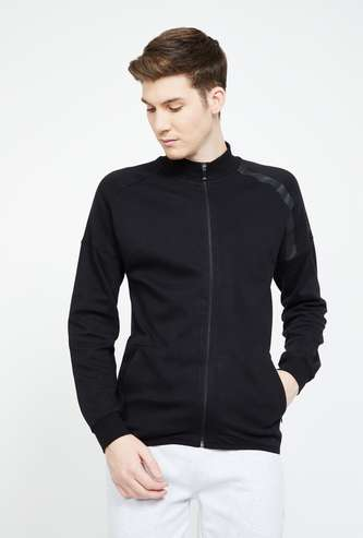KAPPA Solid Full Sleeves Sweatshirt