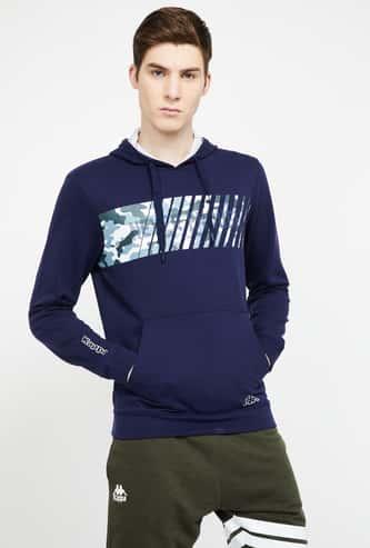 KAPPA Printed Hooded Sweatshirt