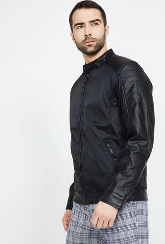 FAME FOREVER Panelled Jacket with Zip Pockets