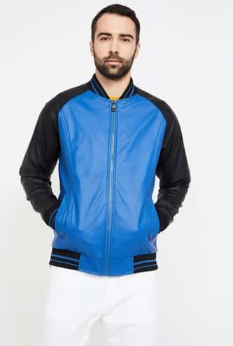 UCLA Colourblocked Regular Fit Zip-Up Jacket