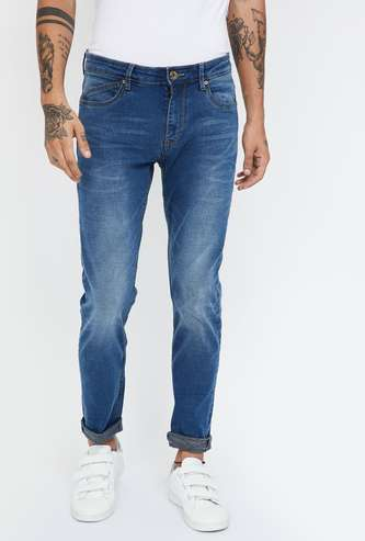 BOSSINI Stonewashed Slim Tapered Fit Jeans