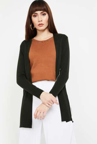 CODE Open-Front Shrug with Side Tape