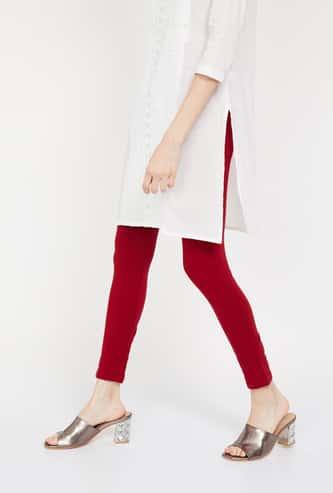 MELANGE Solid Slim Fit Ankle-Length Leggings
