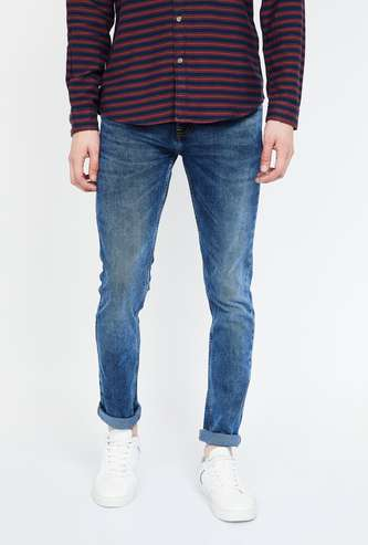 CELIO Mid-Washed Slim Fit Jeans