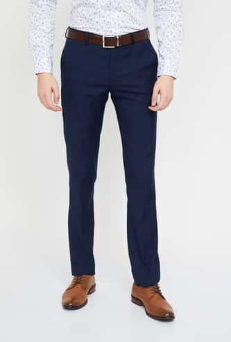 BLACKBERRYS Solid Low Rise Super Slim Trousers