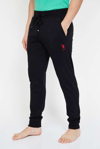 U.S. POLO ASSN. Solid Elasticated Regular Fit Joggers