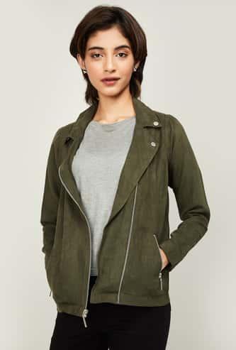 ALLEN SOLLY Women Textured Casual Jacket