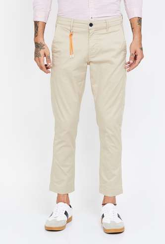 BOSSINI Solid Slim Fit Casual Trousers