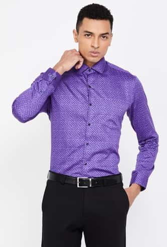 CODE Men Paisley Print Full Sleeves Slim Fit Formal Shirt