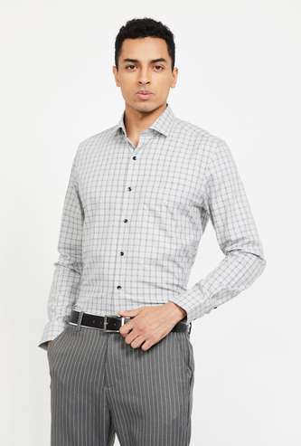 CODE Checked Slim Fit Shirt