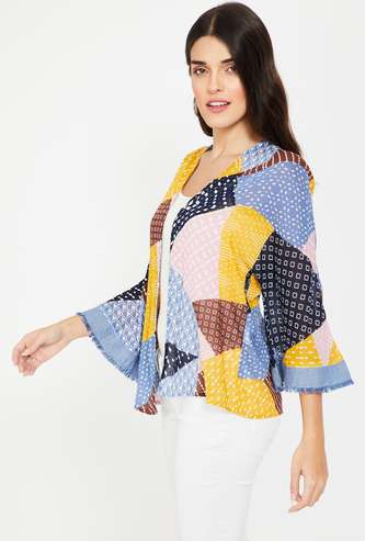VERO MODA Printed Kimono Shrug