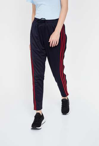 ADIDAS Striped Knitted Slim Fit Track Pants