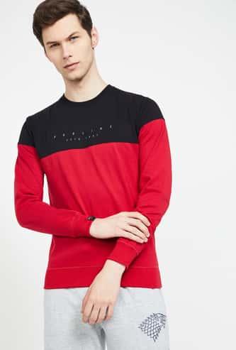 PROLINE Colourblocked Regular Fit Sweatshirt