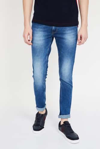SPYKAR Stonewashed Low-Rise Skinny Jeans