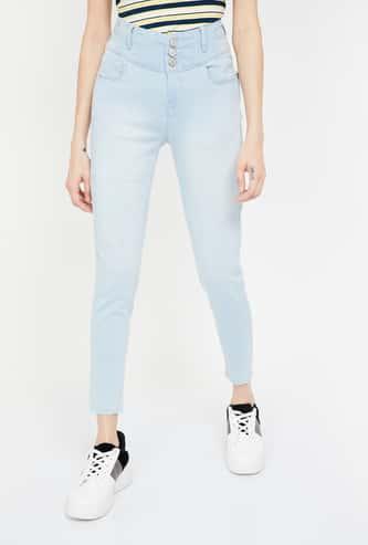 JEALOUS 21 Stonewashed Super Skinny Fit Jeans