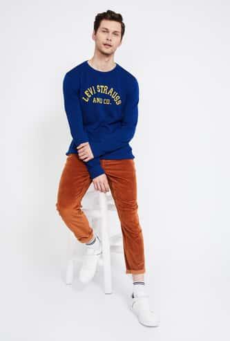 LEVI'S Jacquard Knit Full Sleeves Sweater