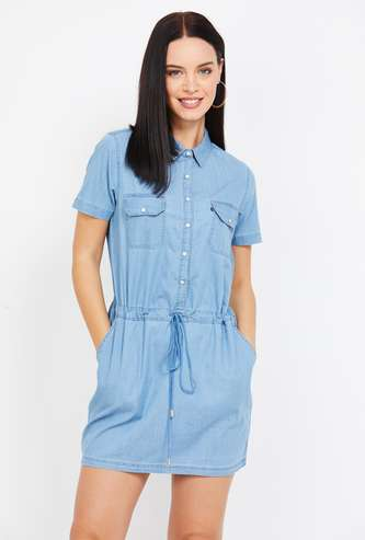 XPOSE Denim Style Tunic with Side Pockets
