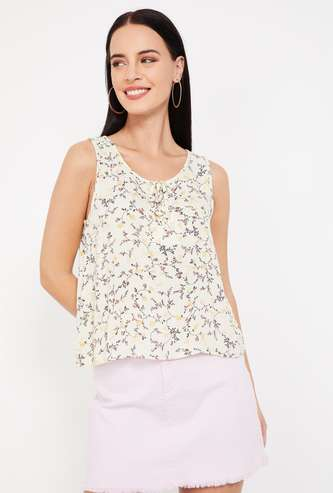 GINGER Printed Sleeveless Top