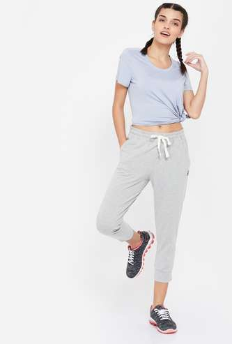 REEBOK Solid Regular Fit Croppped Joggers