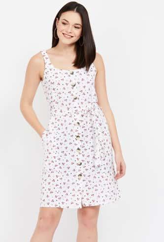 BOSSINI Floral Print A-line Dress
