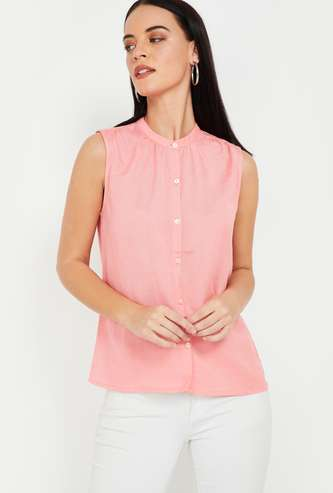 BOSSINI Solid Sleeveless Top