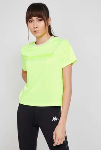 KAPPA Typographic Applique Regular Fit Lightweight Hydroway T-shirt