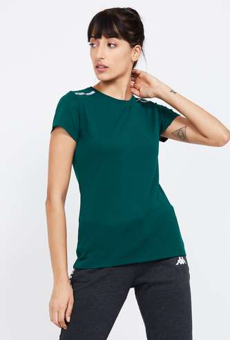 KAPPA Solid Regular Fit Kooltex Sports T-shirt
