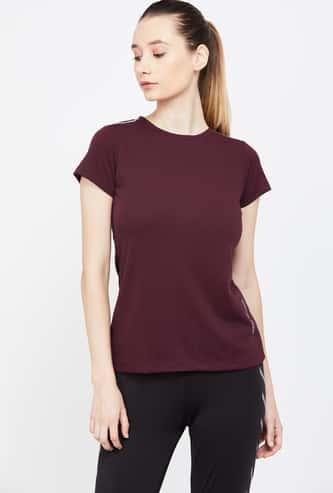 KAPPA Solid Regular Fit Kooltex Active T-shirt