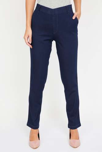 XPOSE Solid Slim Fit Jeggings