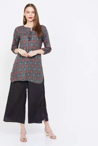MELANGE Printed Three-quarter Sleeves Kurti