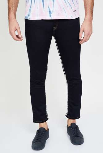 BOSSINI Solid Slim Tapered Fit Jeans