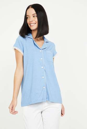 GINGER Women Solid Lounge Shirt