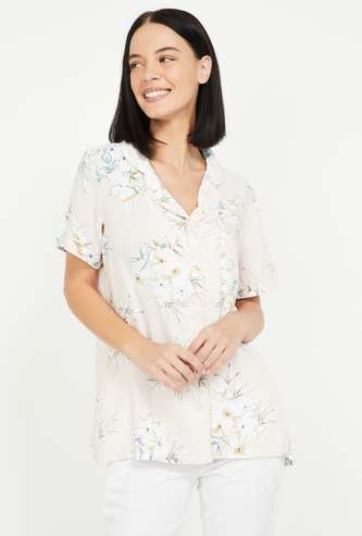 GINGER Women Floral Print Lounge Shirt