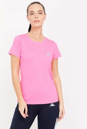 KAPPA Solid Regular Fit Lightweight T-shirt