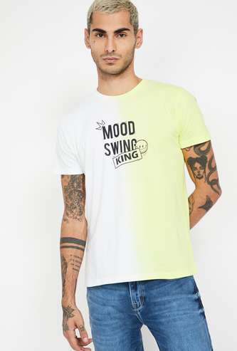 SMILEY Typographic Print Regular Fit T-shirt