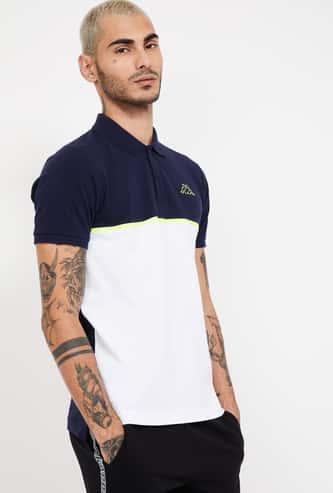 KAPPA Colourblocked Regular Fit Polo T-shirt