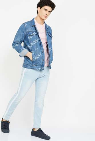 UCLA Printed Full Sleeves Denim Jacket