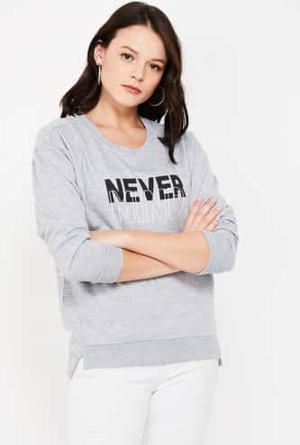 MS. TAKEN Printed Round Neck Sweatshirt