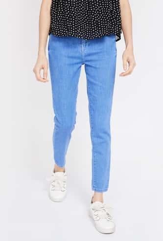 FAME FOREVER Stonewashed Super Skinny Fit Jeans