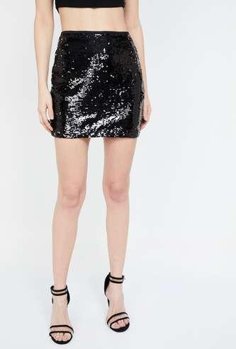 GINGER Embellished Mini Skirt