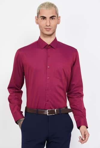 CODE Textured Full Sleeves Regular Fit Shirt