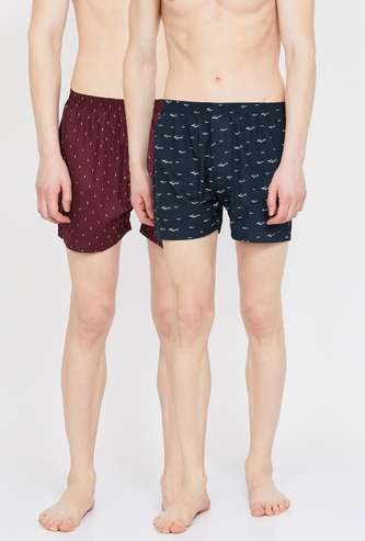 CHROMOZOME Printed Boxers - Pack of 2 - ASSORTED Colour & Design