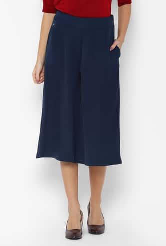 ALLEN SOLLY Solid Elasticated Culottes