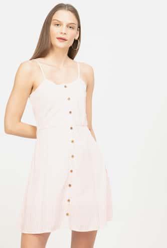 GINGER Striped A-line Dress