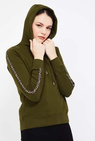 LEE COOPER Solid Hooded Sweatshirt