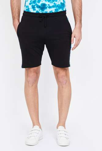 SMILEY Regular Fit Shorts with Contrast Taping
