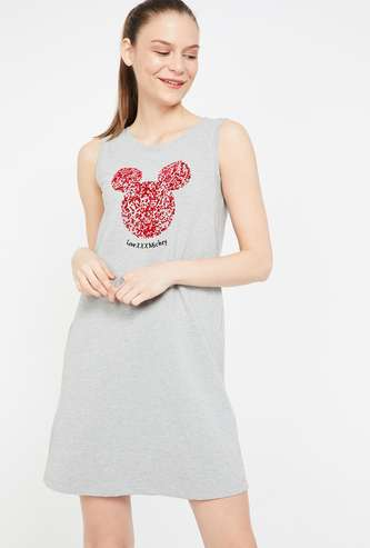 GINGER Mickey & Friends Print Sleeveless Night Dress